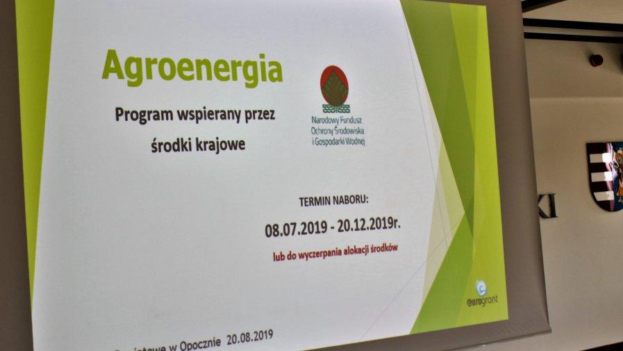 """Wczoraj w Starostwie Powiatowym w Opocznie odbyła się konferencja """"Program Agroenergia"""". Wydarzenie zorganizowane zostało we współpracy z Narodowym Funduszem Ochrony Środowiska i Gospodarki Wodnej oraz Eurogrant Sp. z o.o. z Tarnowa."""