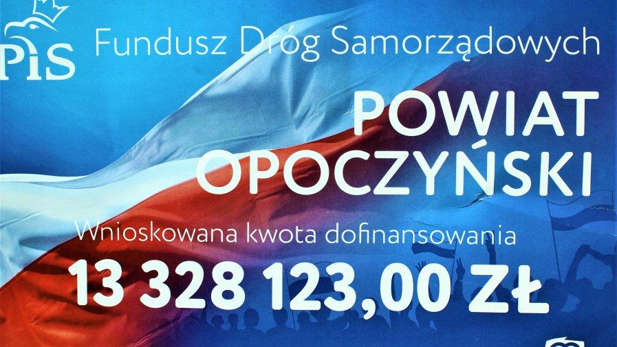 Dzięki dotacjom rządowym z Funduszu Dróg Samorządowych powiat opoczyński i nasze gminy, zrealizuje przedsięwzięcia związane z przebudową i modernizacją infrastruktury drogowej na ponad 13 mln złotych.