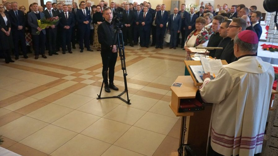 Opłatek Samorządowców z błogosławieństwem Biskupa Tomasika