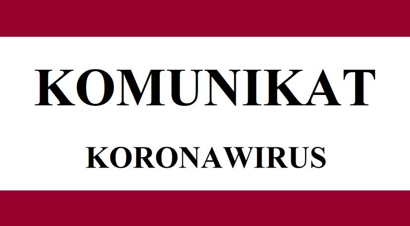 Potwierdzamy pierwsze przypadki zachorowań na Koronawirusa. W obecnej chwili mamy dwóch pacjentów, którzy znajdują się pod ścisła opieką służ medycznych.
