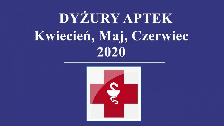 Dyżury i praca aptek w drugim kwartale 2020 roku