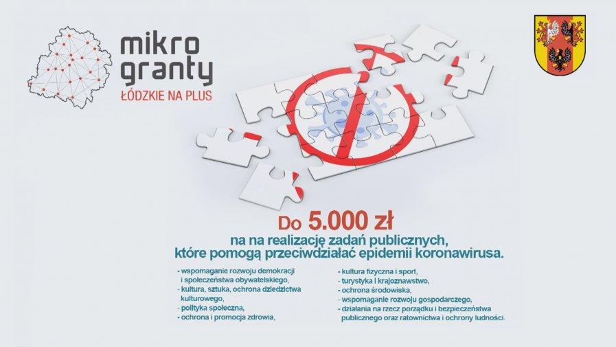 300.000 zł z Wojewódzkiego Programu Mikrograntów na rzecz walki z COVID-19