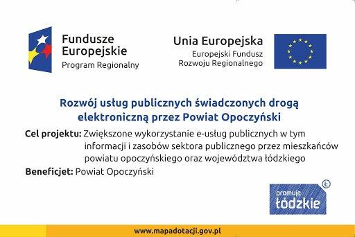 """Powiat Opoczyński zakończył realizację projektu pn. """"Rozwój usług publicznych świadczonych drogą elektroniczną przez Powiat Opoczyński"""""""