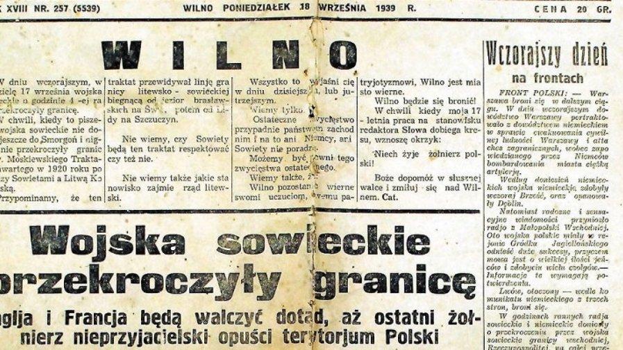 17 września 1939 r. przypadał w niedzielę. Gdy dzień się zaczynał, wojska sowieckie bez wypowiedzenia wojny na całej linii przekraczały granicę z Polską.