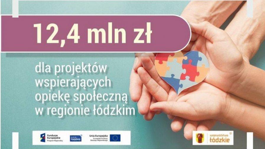 12,4 mln zł dla projektów wspierających opiekę społeczną