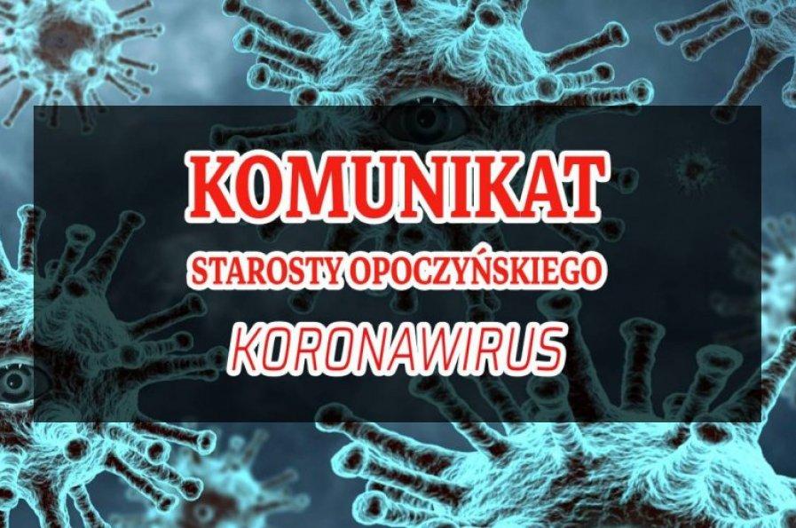 Koronawirus- komunikat starosty